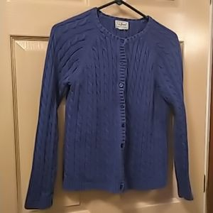L.L. Bean womens vintage cardigan blue pre owned